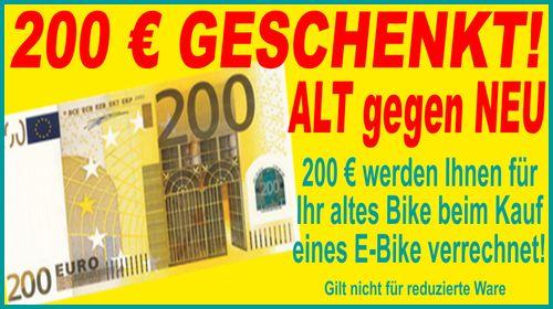 Bis zu 200 Euro sparen bei unserer Alt gegen Neu Aktion