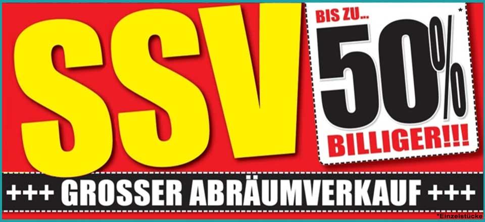 SSV - Großer Abräumverkauf